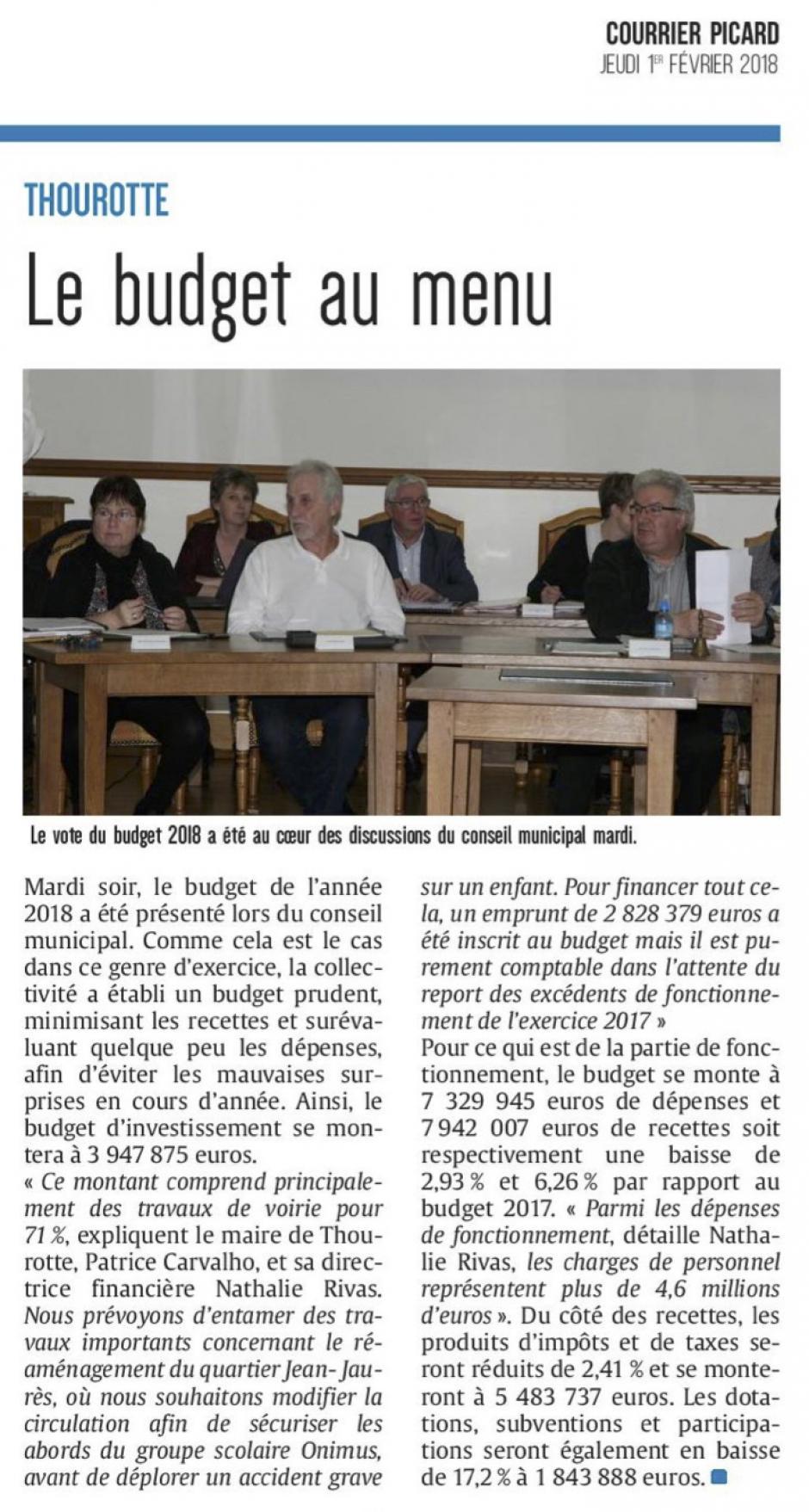 20180201-CP-Thourotte-Le budget au menu