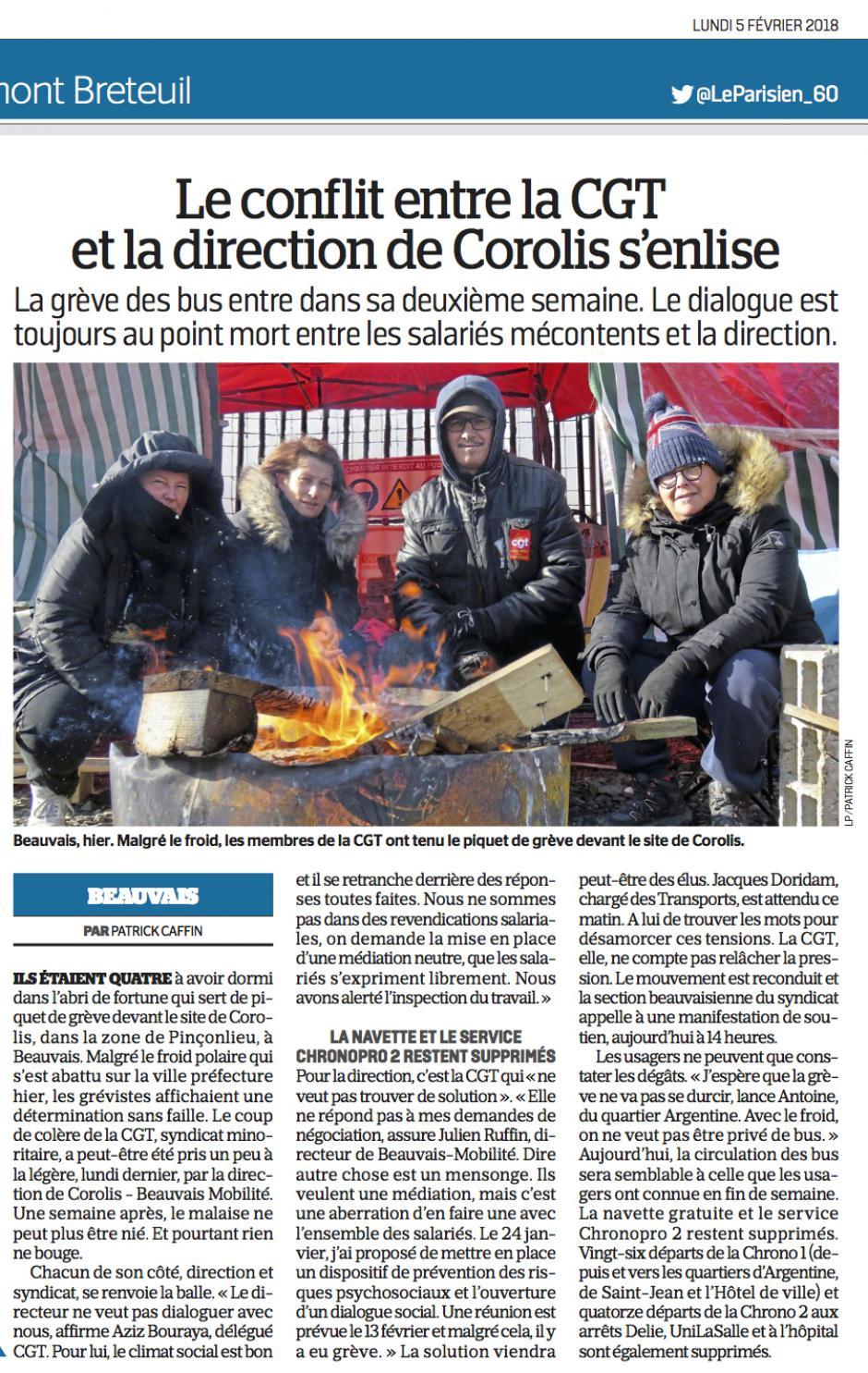 20180205-LeP-Beauvais-Le conflit entre la CGT et la direction de Corolis s'enlise