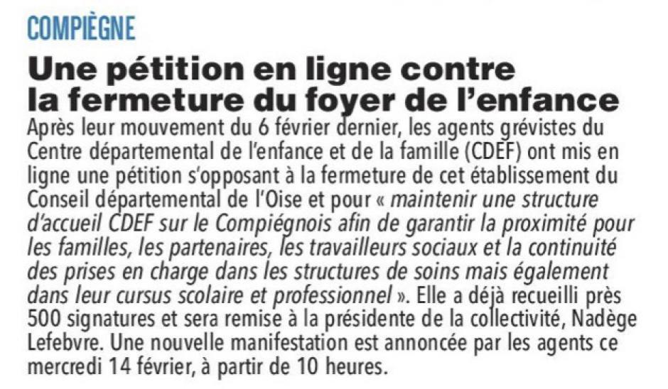 20180213-CP-Compiègne-Une pétition en ligne contre la fermeture du foyer de l'enfance