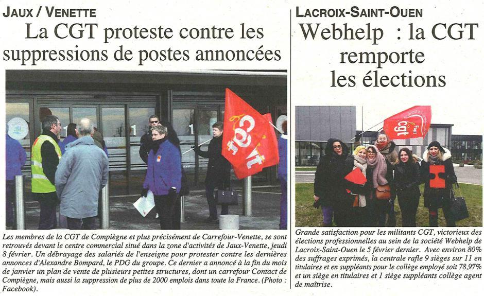 20180214-OH-Venette-La CGT proteste contre les suppressions de postes annoncées [Carrefour]