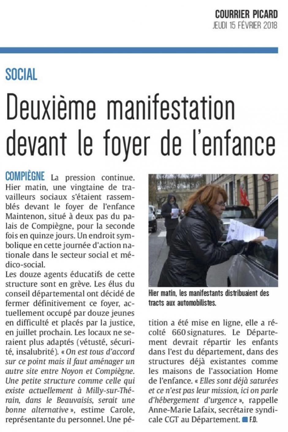 20180215-CP-Compiègne-Deuxième manifestation devant le foyer de l'enfance