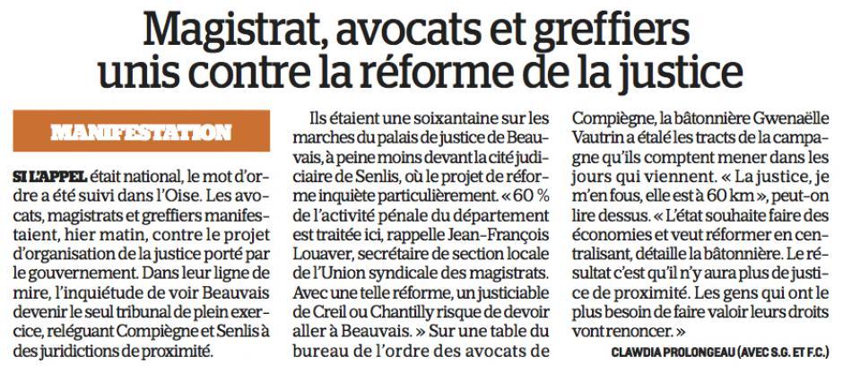 20180216-LeP-Oise-Magistrats, avocats et greffiers unis contre la réforme de la justice