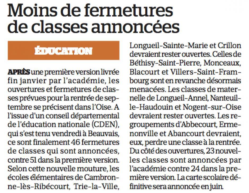 20180218-LeP-Oise-Moins de fermetures de classes annoncées