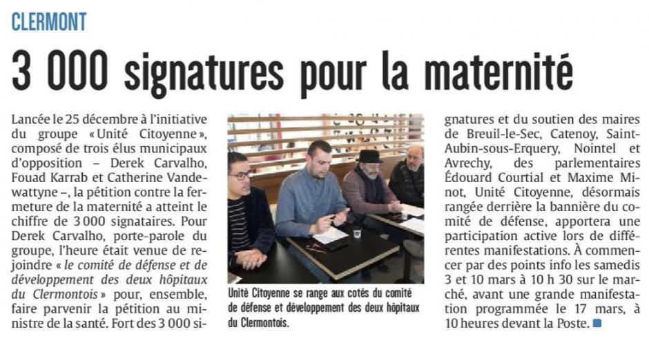 20180221-CP-Clermont-3 000 signatures pour la maternité