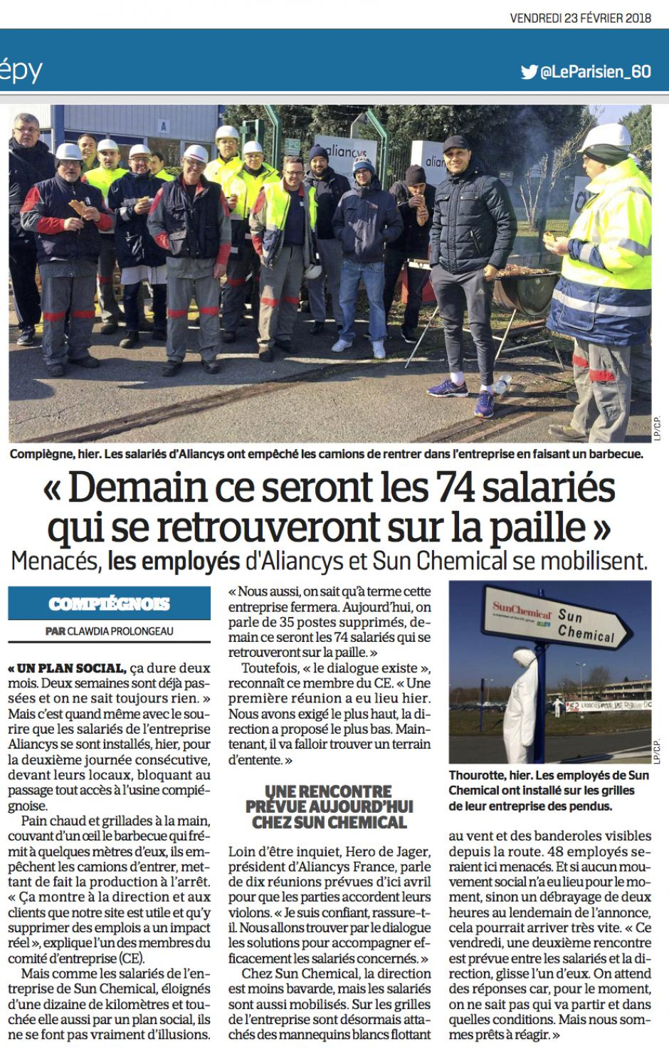 20180223-LeP-Compiègne-Thourotte-Menacés, les employés d'Aliancys et Sun Chemical se mobilisent