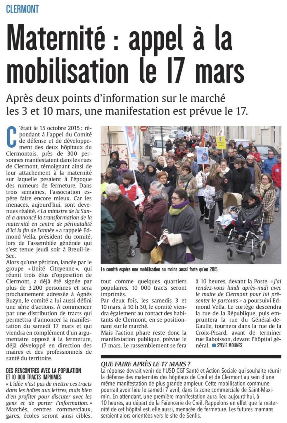 20180224-CP-Clermont-Maternité : appel à la mobilisation le 17 mars