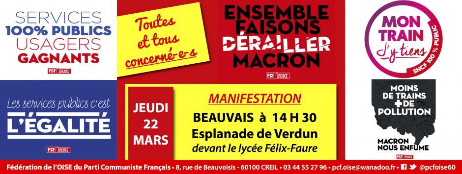 22 mars, Beauvais - Journée nationale d'action dans la Fonction publique