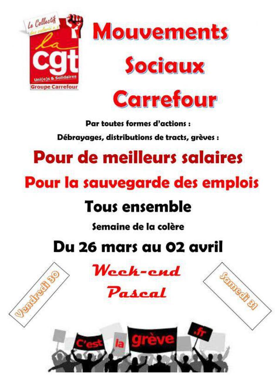 31 mars, Venette - Grève chez Carrefour Venette