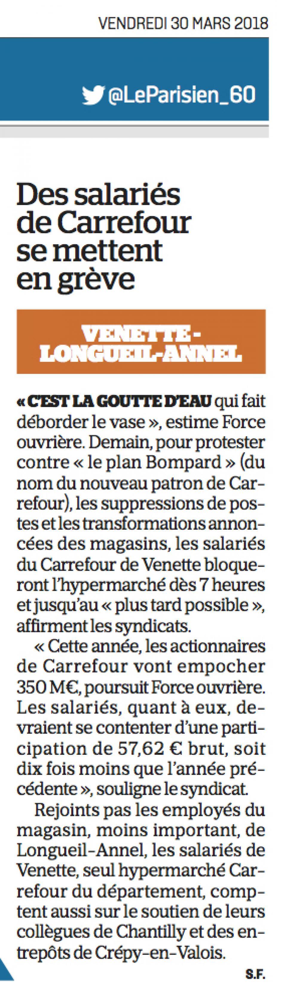 20180330-LeP-Venette-Des salariés de Carrefour se mettent en grève