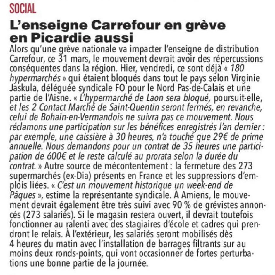 20180331-CP-Picardie-L'enseigne Carrefour en grève dans la région aussi