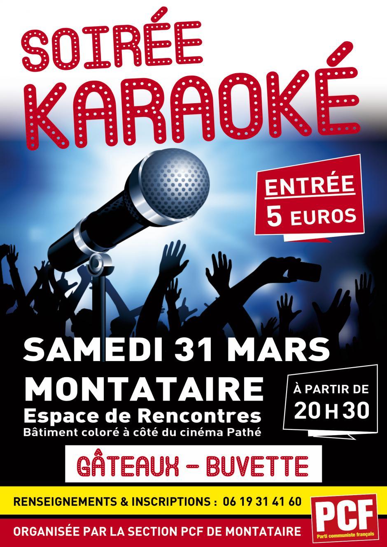 31 mars, Montataire - Soirée Karaoké !