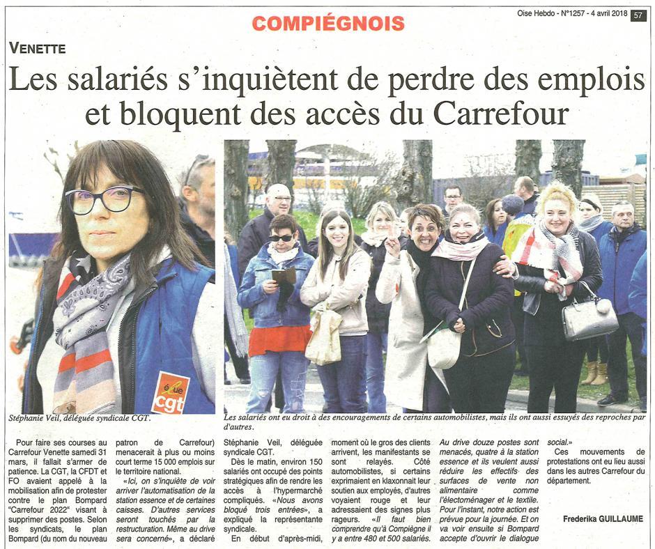 20180404-OH-Venette-Les salariés s'inquiètent de perdre des emplois et bloquent des accès du Carrefour