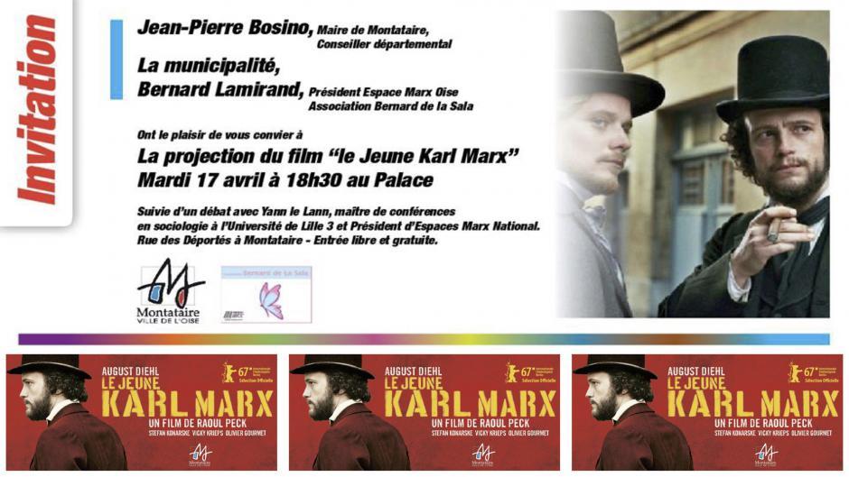 17 avril, Montataire - Espace Marx60-Projection-débat « Le Jeune Karl Marx », avec Yann Le Lann