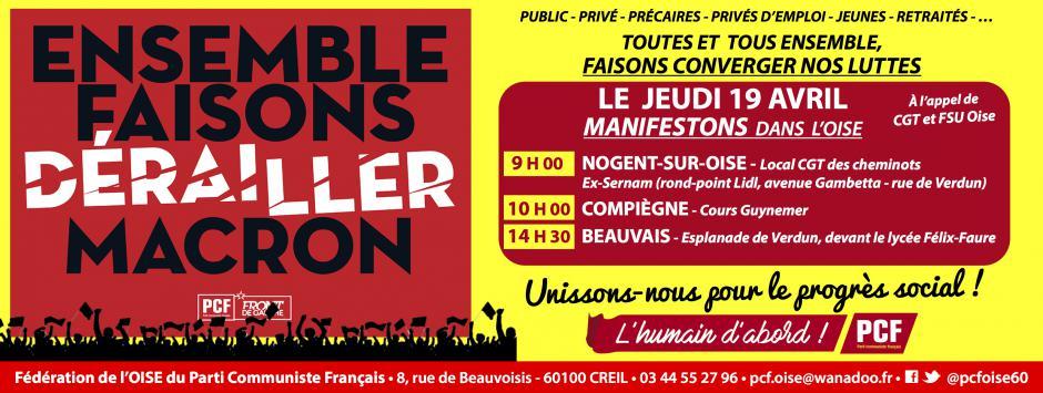 19 avril, Beauvais, Creil, Compiègne - Journée de convergence des luttes