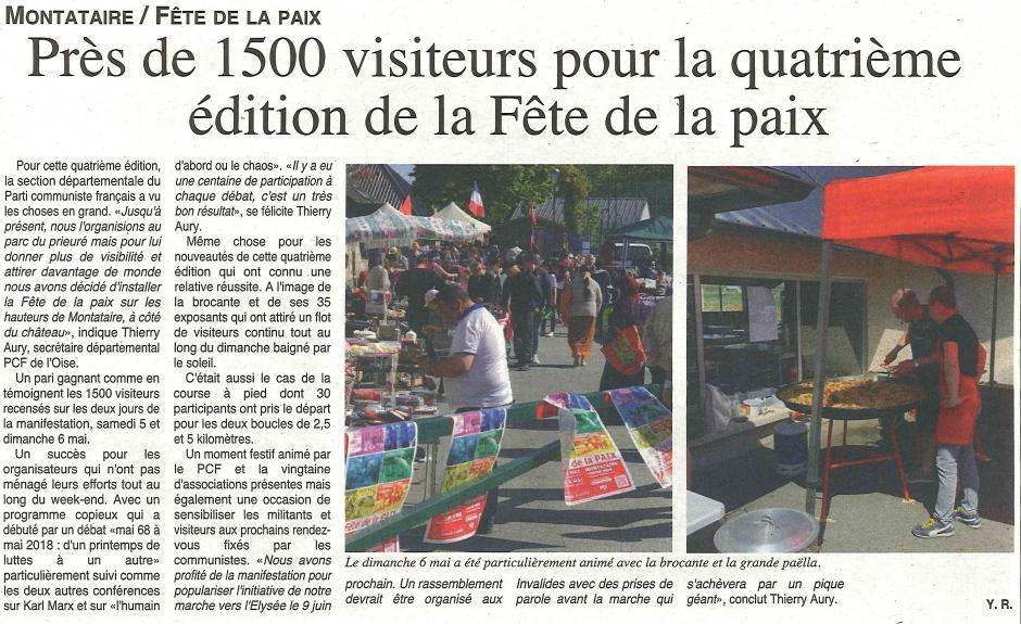 20180509-OH-Montataire-Près de 1 500 visiteurs pour la quatrième [quatorzième] édition de la Fête de la Paix