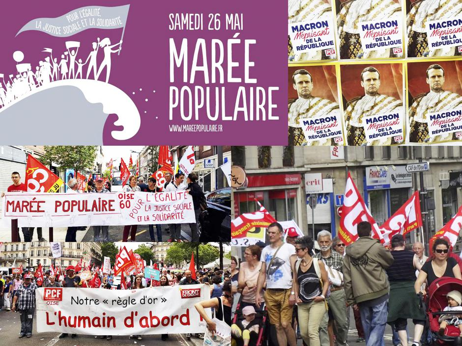 Une marée populaire pour faire reculer Macron, « le méprisant de la République » - Oise et Paris, 26 mai 2018