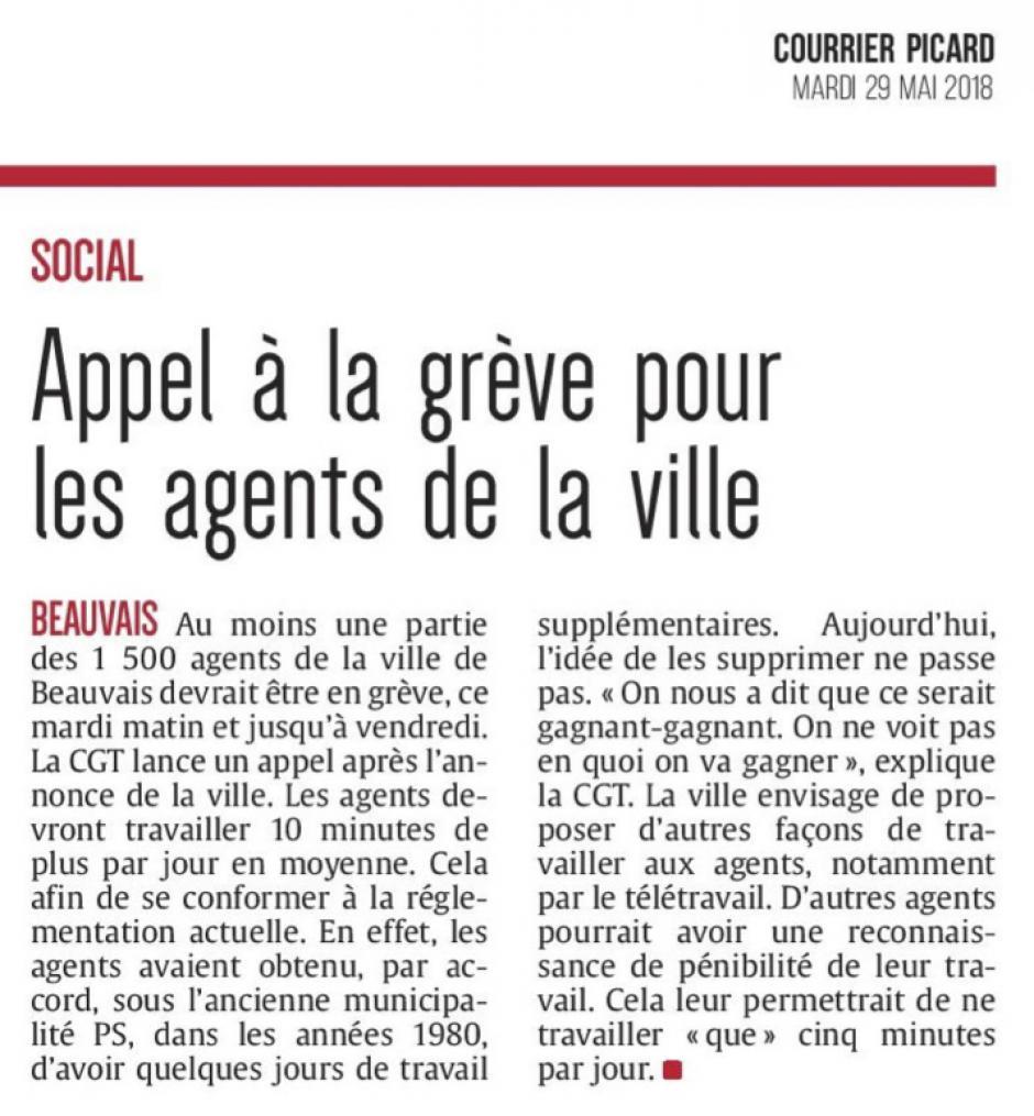 20180529-CP-Beauvais-Appel à la grève pour les agents de la ville [Pages régionales]