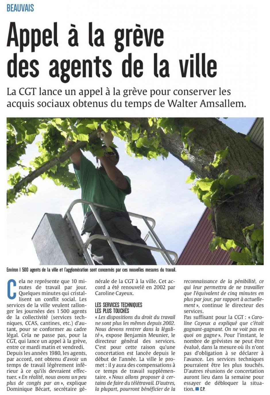 20180529-CP-Beauvais-Appel à la grève des agents de la ville