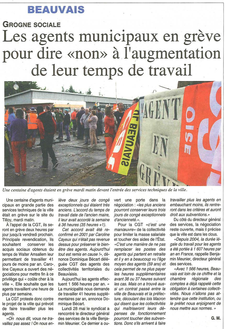 20180530-OH-Beauvais-Les agents municipaux en grève pour dire « non » à l'augmentation de leur temps de travail