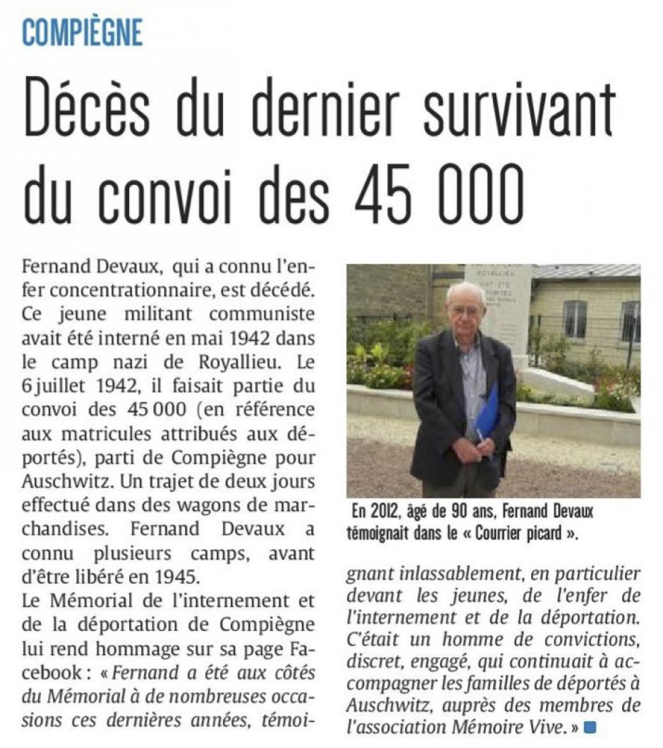 20180601-CP-Compiègne-Décès du dernier survivant des convois des 45000