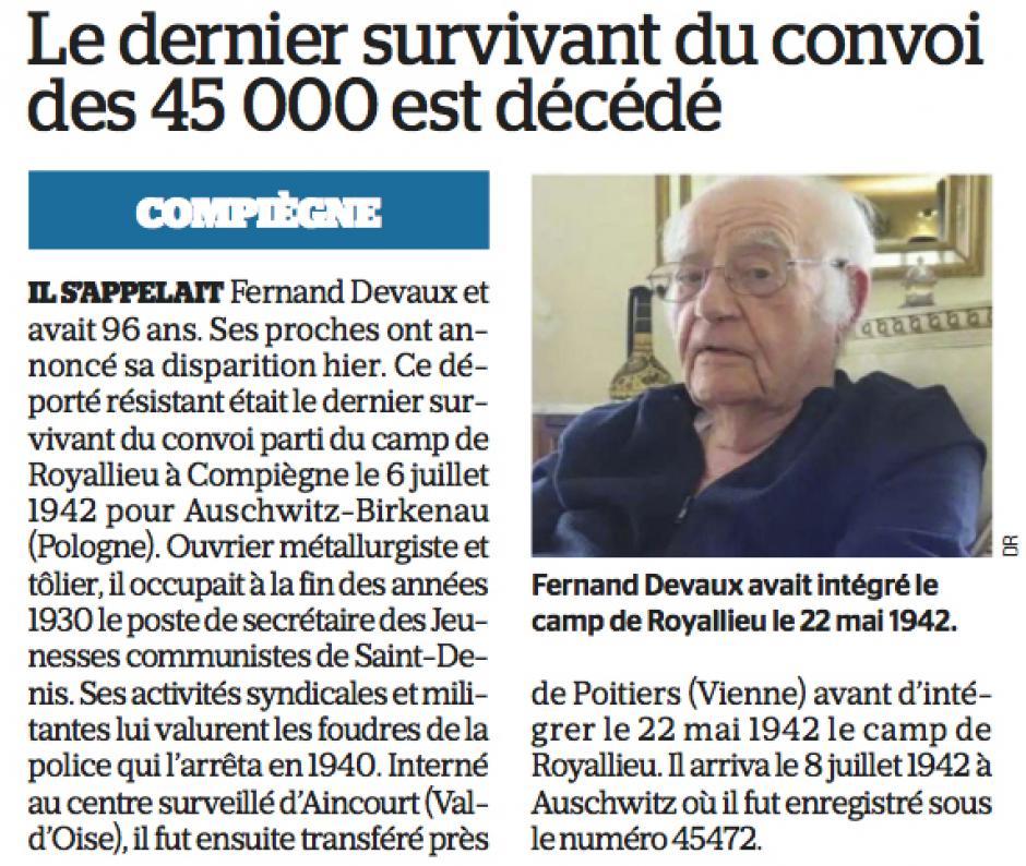 20180602-LeP-Compiègne-Le dernier survivant du convoi des 45000 est décédé