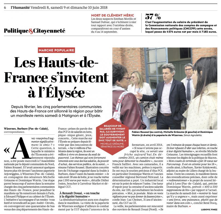 20180608-L'Huma-France-Les Hauts-de-France s'invitent à l'Élysée
