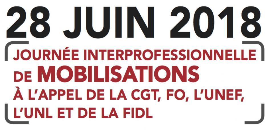 28 juin, Beauvais & Compiègne - Journée interprofessionnelle de mobilisations