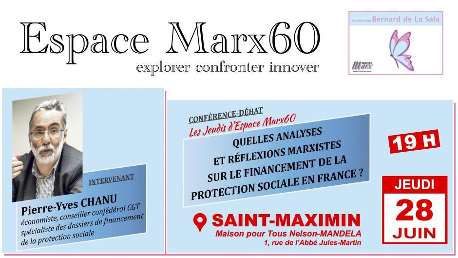 28 juin, Saint-Maximin - Espace Marx60-Conférence-débat « Financement de la protection sociale »