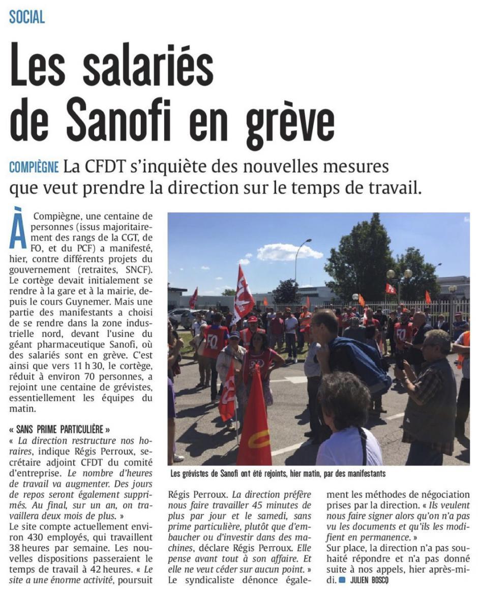 20180629-CP-Compiègne-Les salariés de Sanofi en grève