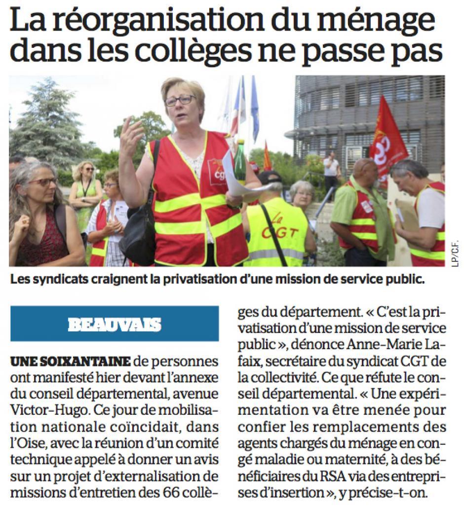 20180629-LeP-Beauvais-La réorganisation du ménage dans les collèges ne passe pas