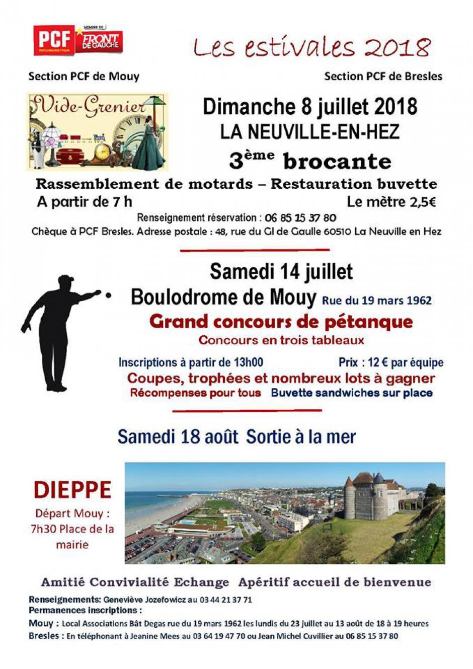 14 juillet, Mouy - Grand concours de pétanque du PCF Mouy
