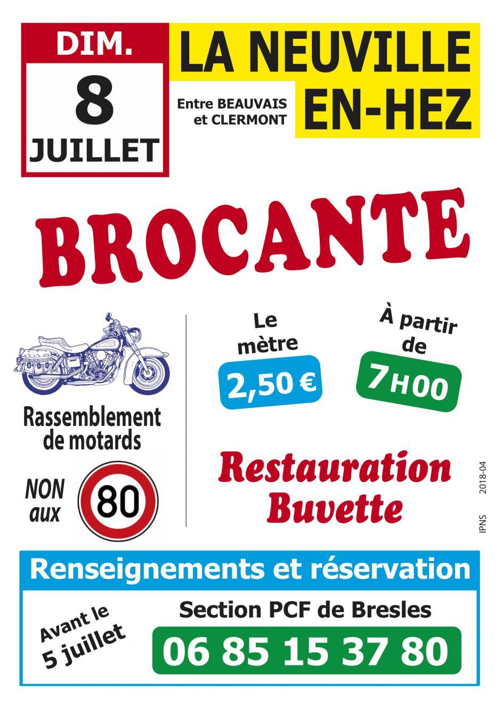 8 juillet, La Neuville-en-Hez - Brocante de la section PCF de Bresles