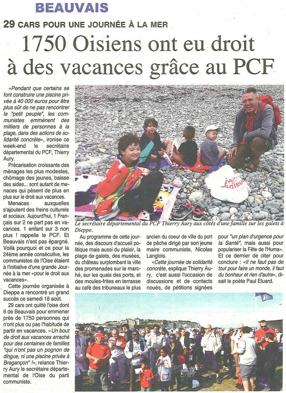 20180822-OH-Oise-1 750 Oisiens ont eu droit à des vacances grâce au PCF