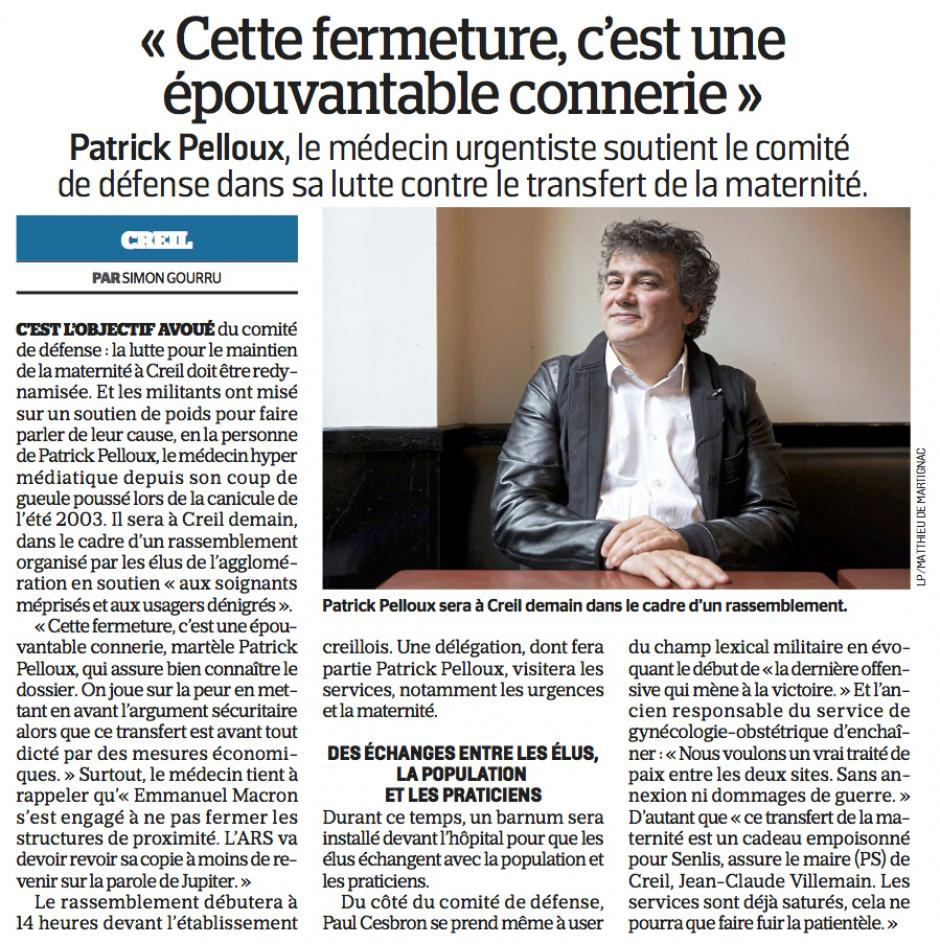 20180926-LeP-Creil-Patrick Pelloux : « Cette fermeture, c'est une épouvantable connerie »