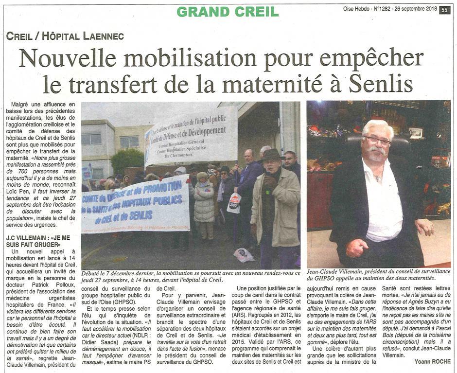 20180926-OH-Creil-Nouvelle mobilisation pour empêcher le transfert de la maternité à Senlis
