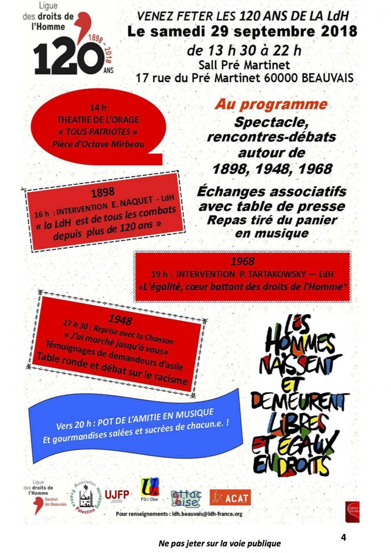 29 septembre, Beauvais-LDH-Fête des Huit