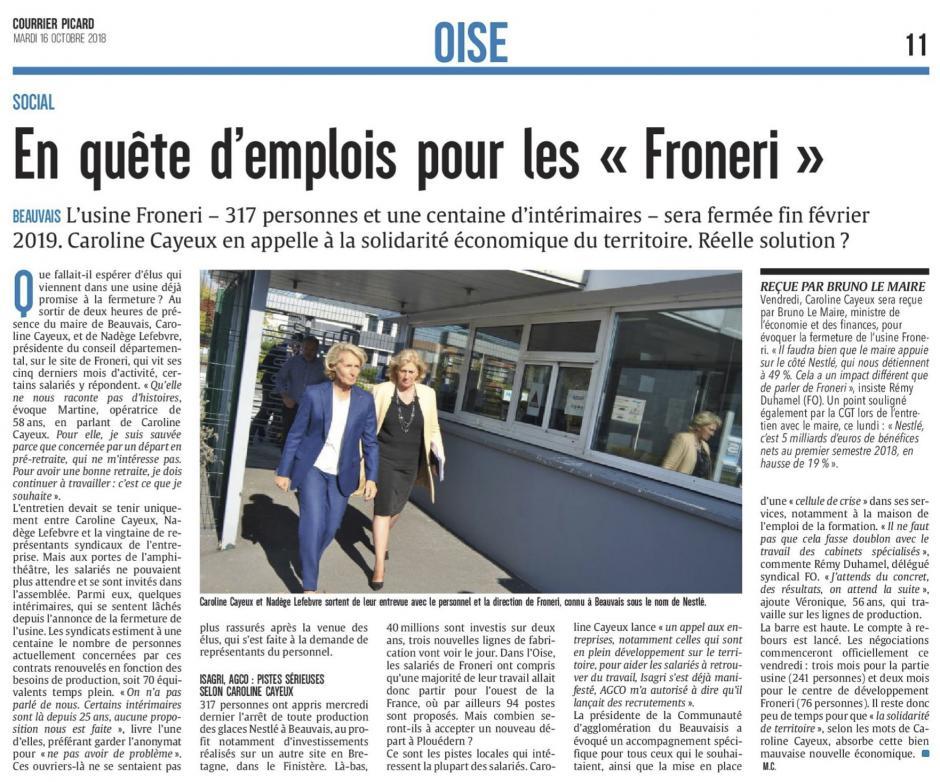 20181016-CP-Beauvais-En quête d'emplois pour les « Froneri »
