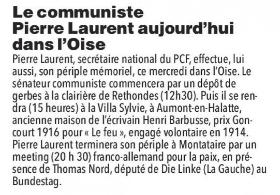 20181107-CP-Oise-Le communiste Pierre Laurent aujourd'hui dans le département