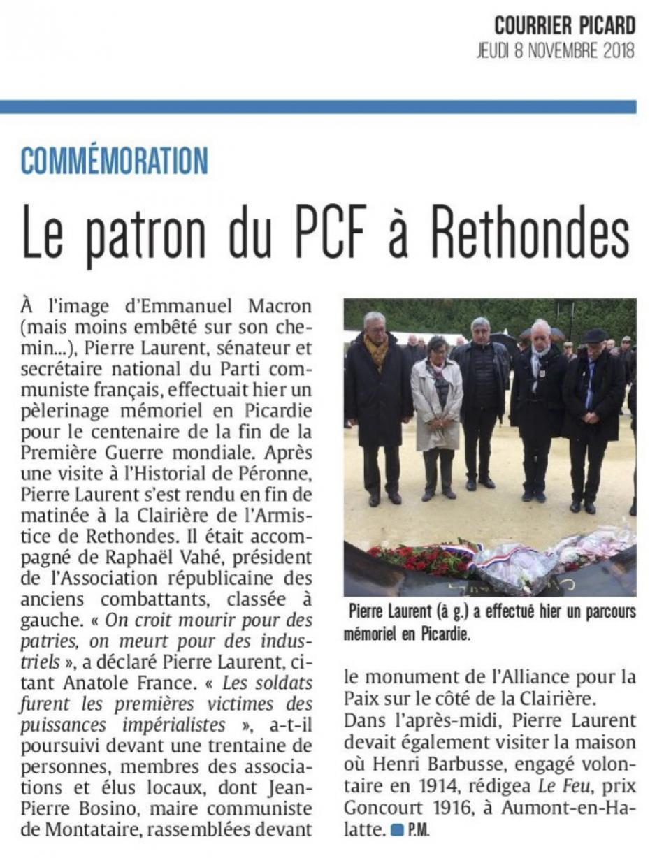 20181108-CP-Oise-Le patron du PCF à Rethondes