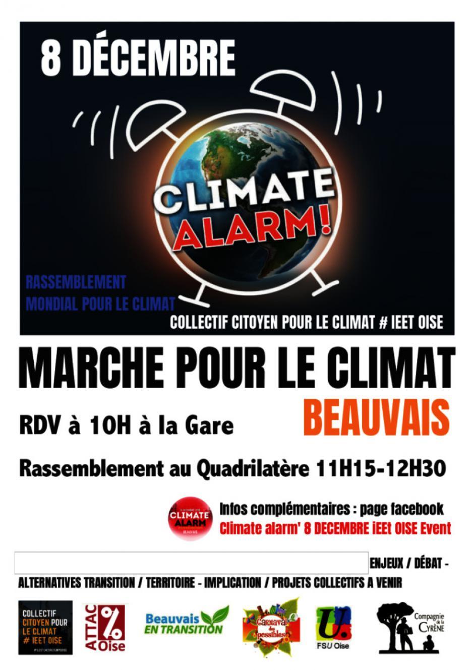 8 décembre, Beauvais - Rassemblement mondial et solidaire pour le climat