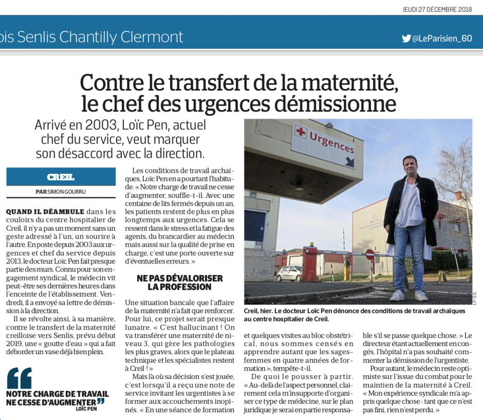 20181227-LeP-Creil-Contre le transfert de la maternité, le chef des urgences démissionne