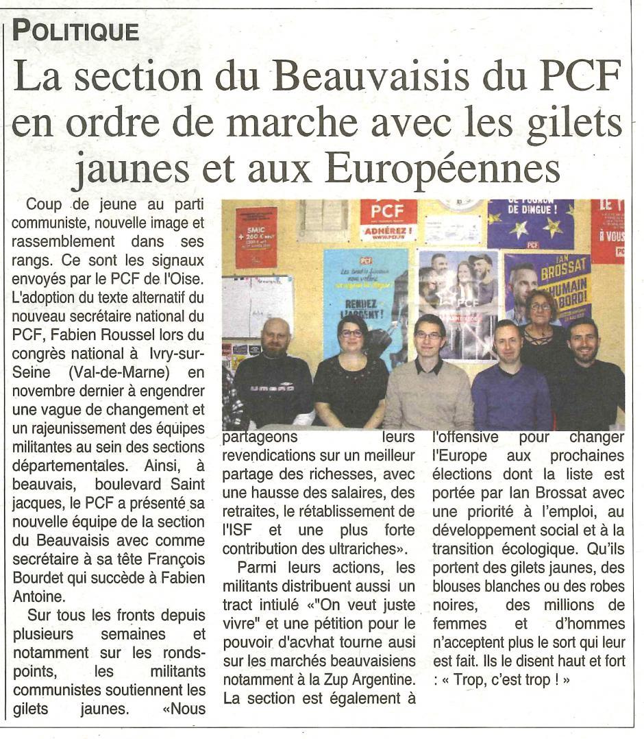 20190116-OH-Beauvais-La section du Beauvaisis du PCF en ordre de marche avec les gilets jaunes et aux Européennes