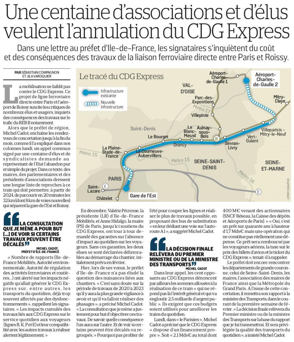 20190123-LeP-Île-de-France-Une centaine d'associations et d'élus veulent l'annulation du CDG Express