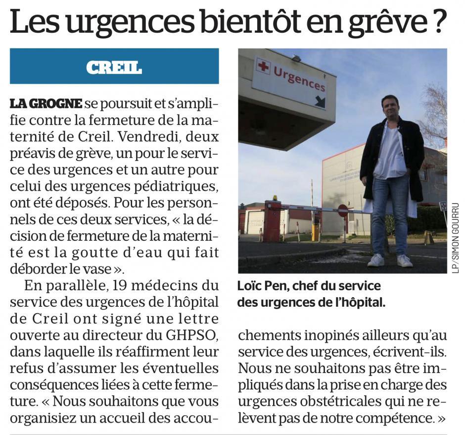 20190126-LeP-Creil-Les urgences bientôt en grève ?