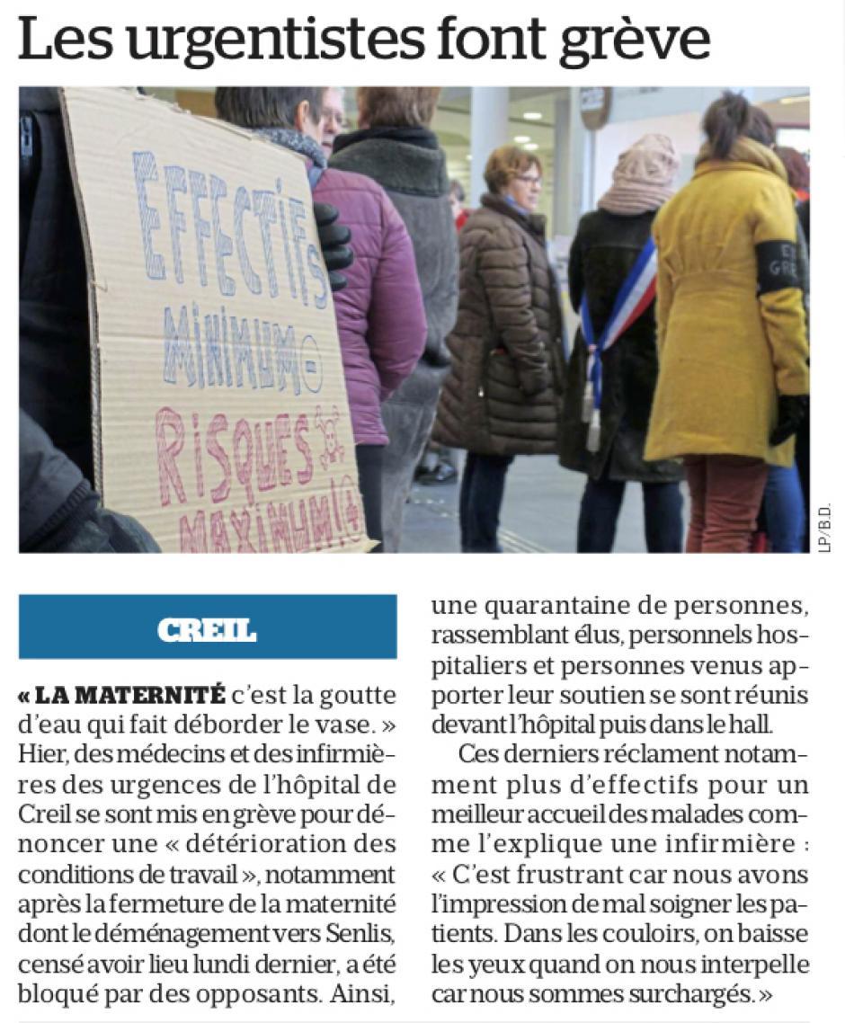 20190201-LeP-Creil-Les urgentistes font grève