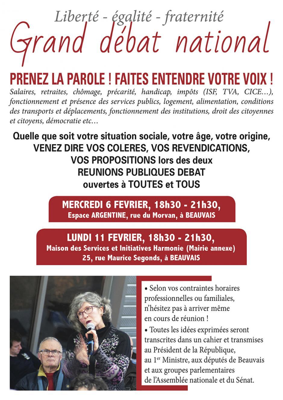 11 février, Beauvais - Réunion publique dans le cadre du Grand débat