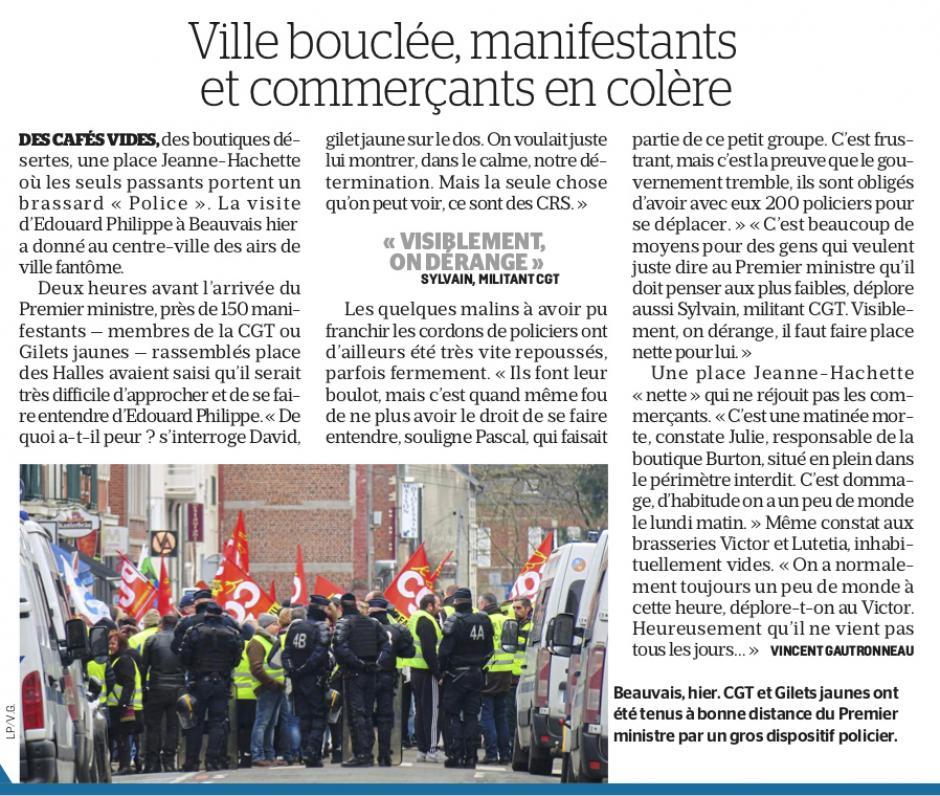20190205-LeP-Beauvais-Ville bouclée, manifestants et commerçants en colère