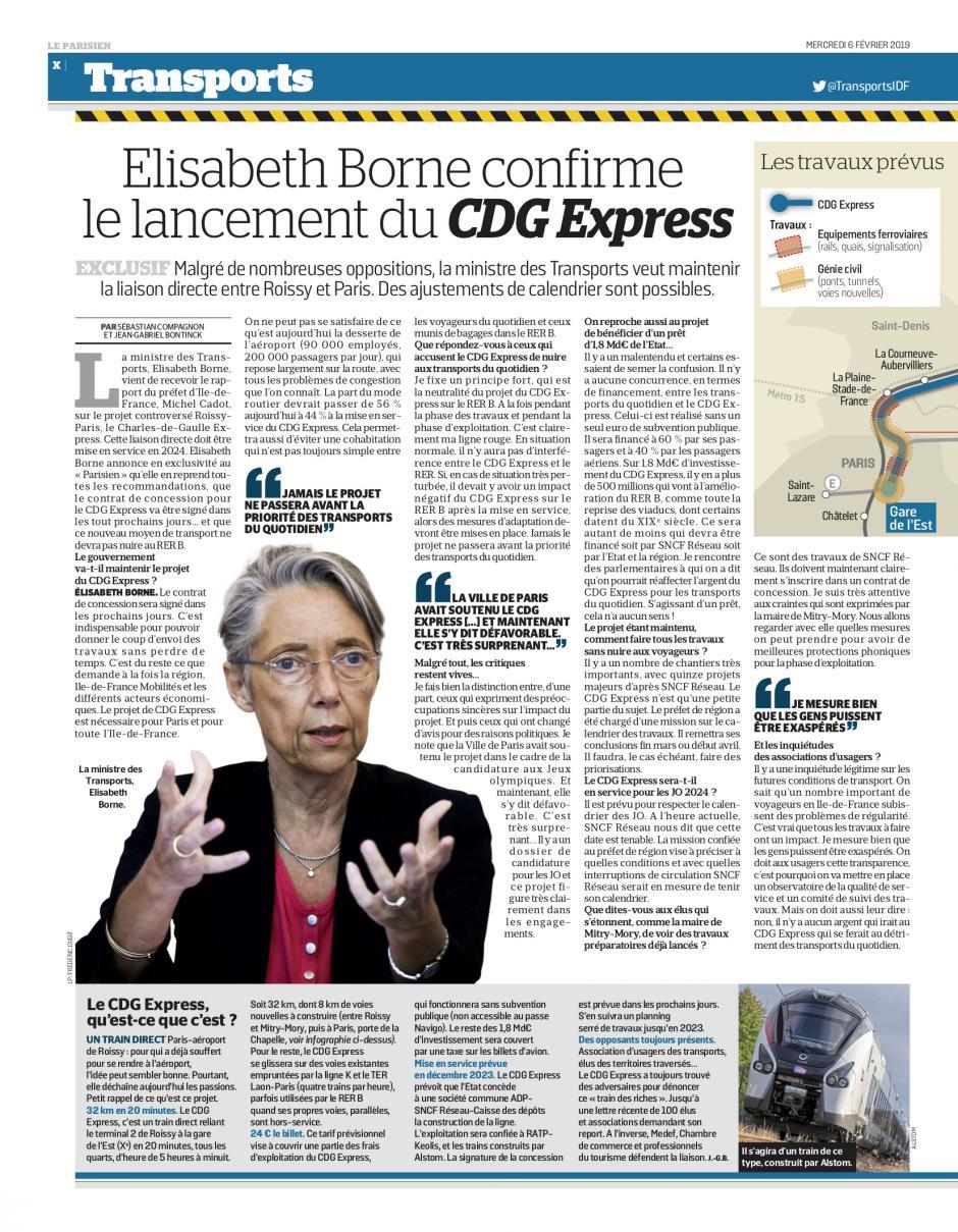 20190206-LeP-Île-de-France-CDG Express : « c'est un projet élitiste, dispendieux et ségrégatif »