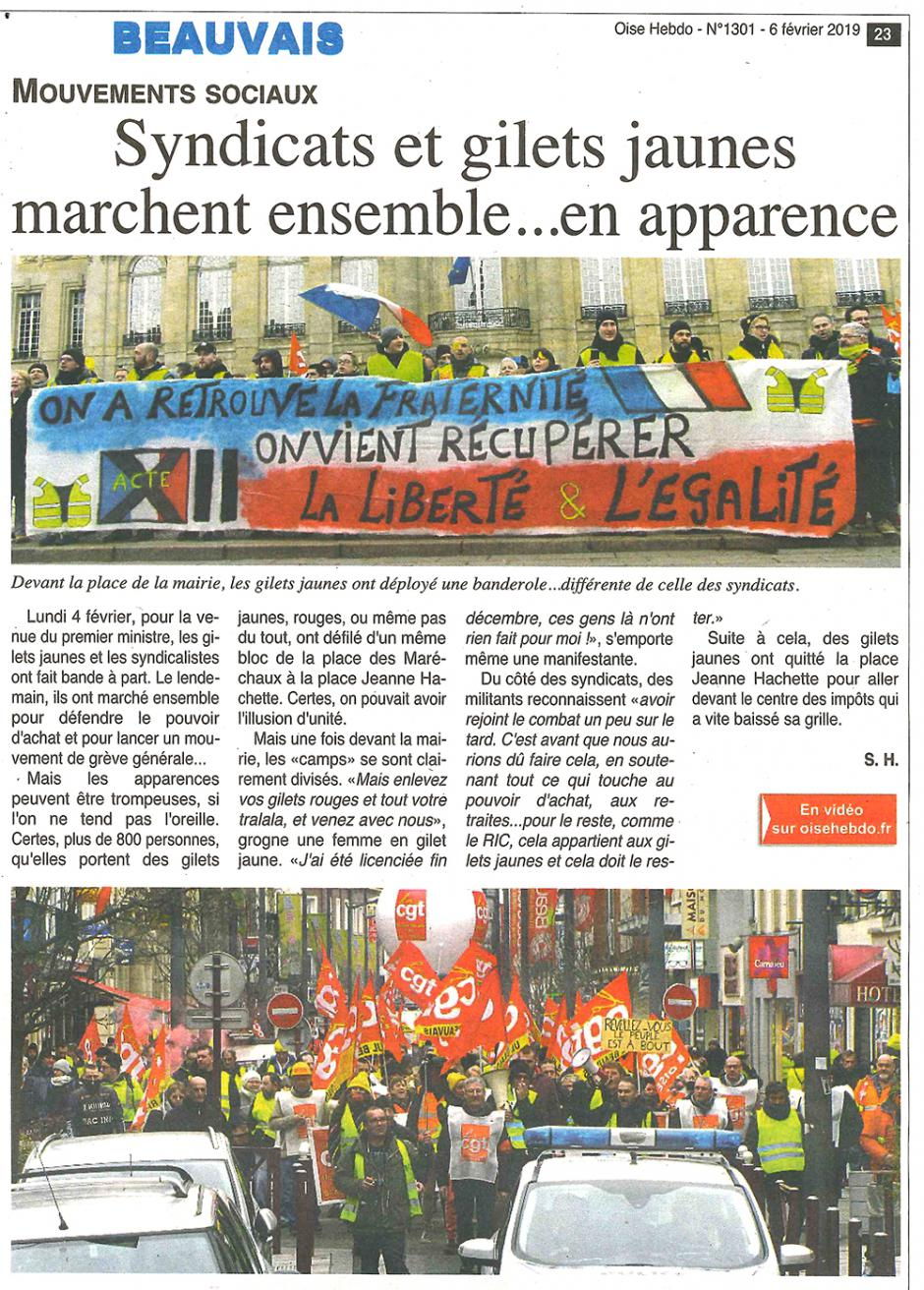 20190206-OH-Beauvais-Syndicats et gilets jaunes marchent ensemble… en apparence