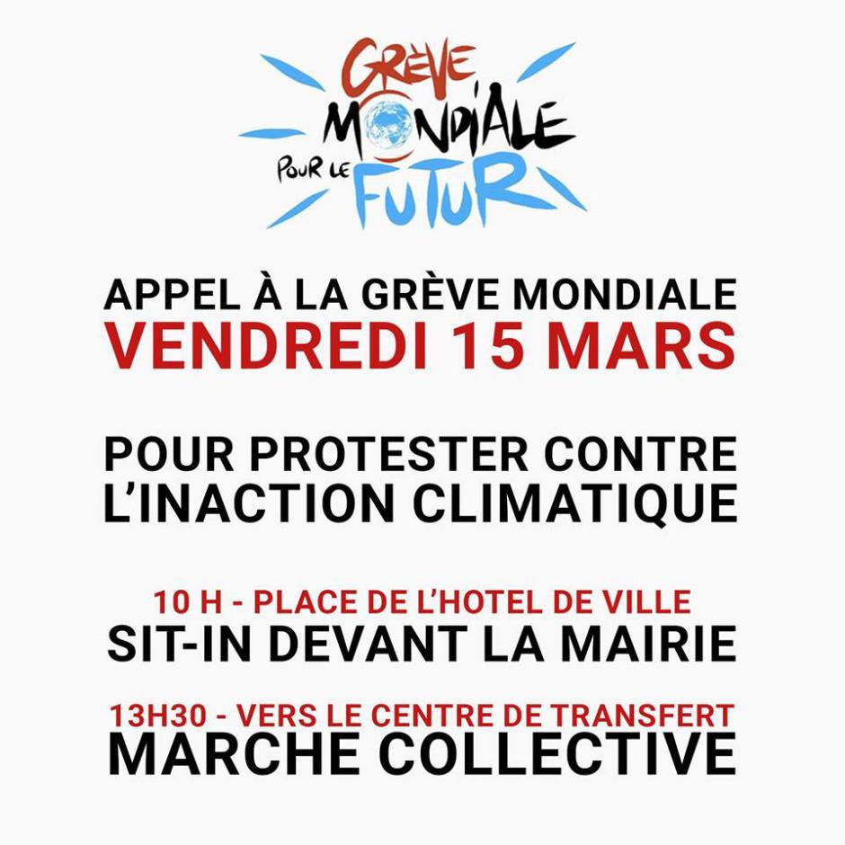 15 mars, Compiègne - Mobilisation contre l'inaction climatique